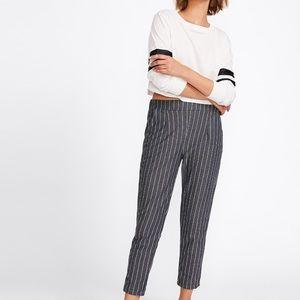 Vertical Stripped Elastic Waist Pants